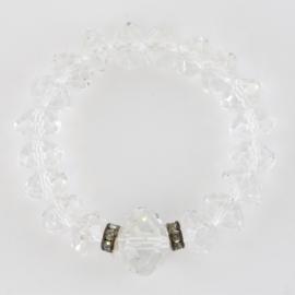 Bransoletka szlifowane kryształki na gumce BRA2937