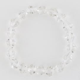Bransoletka szlifowane kryształki na gumce BRA2938