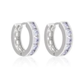 Kolczyki kółeczka z kryształkami - Xuping EAP14941