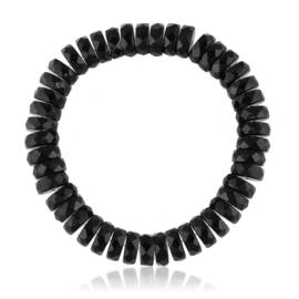 Bransoletka szlifowane koraliki czarne - BRA2977