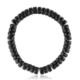 Bransoletka szlifowane koraliki czarne - BRA2978