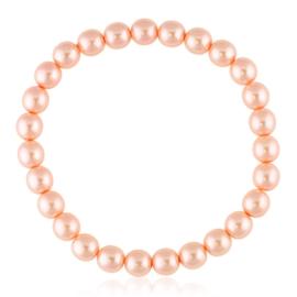 Bransoletka czeskie perły różowe - BRA3005