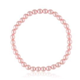 Bransoletka czeskie perły różowe - BRA3006