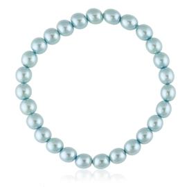 Bransoletka czeskie perły niebieskie - BRA3008