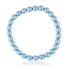 Bransoletka czeskie perły niebieskie - BRA3009