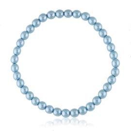 Bransoletka czeskie perły niebieskie - BRA3010