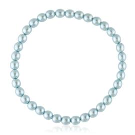 Bransoletka czeskie perły niebieskie - BRA3011