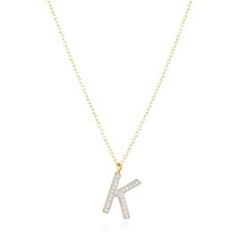 Naszyjnik stal z literką - K - Xuping - CP4486