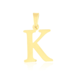 Przywieszka stal literka 2cm - K - Xuping PRZ2642