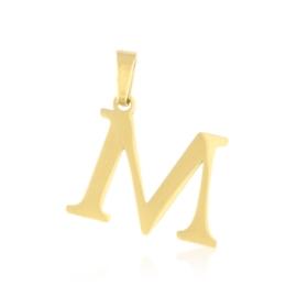 Przywieszka stal literka 2cm - M - Xuping PRZ2643