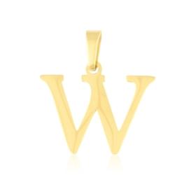 Przywieszka stal literka 2cm - W - Xuping PRZ2647