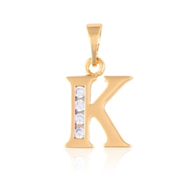 Przywieszka Xuping - litera K - PRZ1420