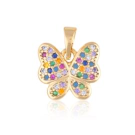Przywieszka kolorowy motylek - Xuping PRZ2655