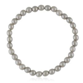 Bransoletka czeskie perły szare - BRA3023