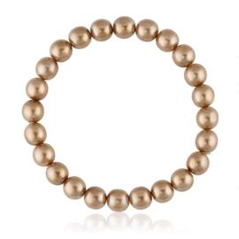 Bransoletka czeskie perły beżowe - BRA3028