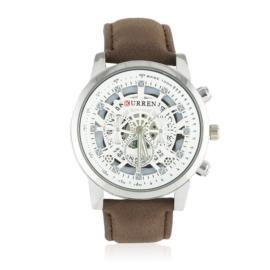 Zegarek męski - brązowy pasek - Z1869