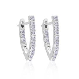 Kolczyki kły z kryształkami 2cm Xuping EAP15148