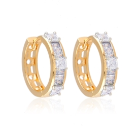 Kolczyki codzienne z kryształkami Xuping EAP15162