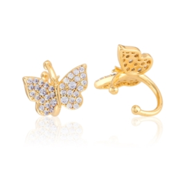 Nausznice motylki z kryształkami Xuping EAP15172