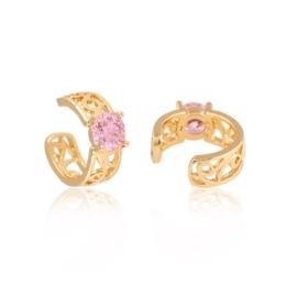 Nausznice z różowym kamieniem Xuping EAP15174