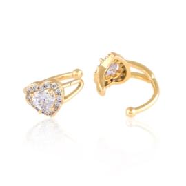 Nausznice z kryształkami Xuping EAP15175