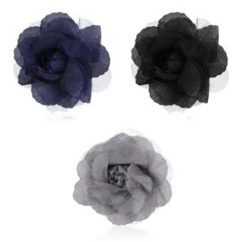 Broszka materiałowy kwiatek mix kolorów BR660