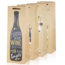 Torebki prezentowe na butelkę 36x13cm 12szt TP485