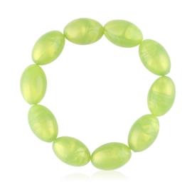 Bransoletka zielone koraliki - BRA3070