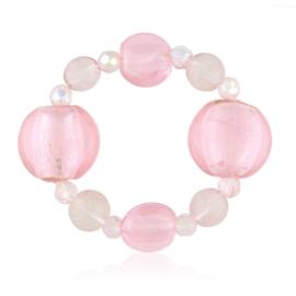 Bransoletka różowe koraliki - BRA3071