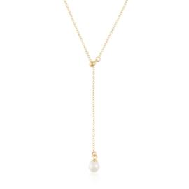Celebrytka krawatka z perełką - Xuping CP4569