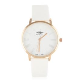 Zegarek damski na białym pasku - Z1907