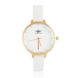 Zegarek damski na białym pasku - Z1908