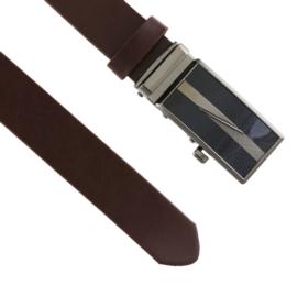 Pasek skórzany męski automat brązowy 3cm BLM189