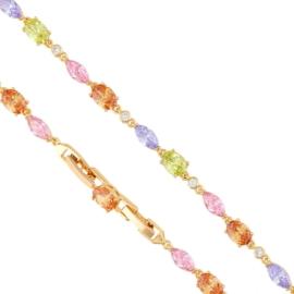 Bransoletka - kolorowe kamienie - Xuping BP7407