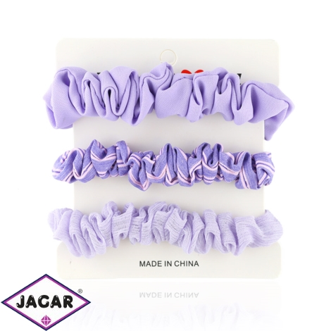 Gumki scrunchie pastel fiolet paski 3szt - OG804