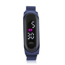 Zegarek LED na magnetycznym pasku granat - Z1997