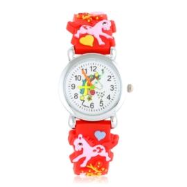 Zegarek dziecięcy unicorn - czerwony - Z2004