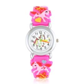 Zegarek dziecięcy unicorn - neonowy róż - Z2005