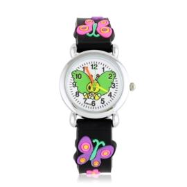 Zegarek dziecięcy motylek - czarny - Z2007