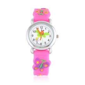 Zegarek dziecięcy motylek - neonowy róż - Z2008