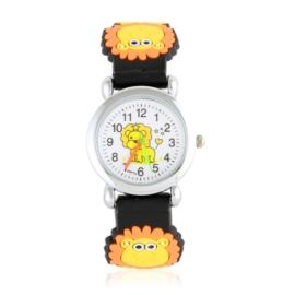Zegarek dziecięcy z lwem - czarny - Z2010