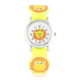 Zegarek dziecięcy z lwem - żółty - Z2011