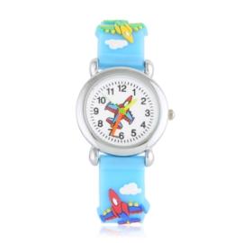 Zegarek dziecięcy samoloty - niebieski - Z2018