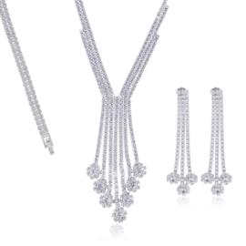 Komplet biżuterii - kryształki - Xuping - SKO79