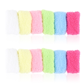 Frotki do włosów puchate pastelowe 12szt - OG829