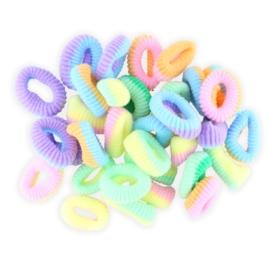 Gumeczki do włosów kolorowe - OG831