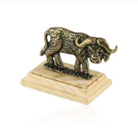 Figurka metalowa - wół bawół na podstawce - FR292