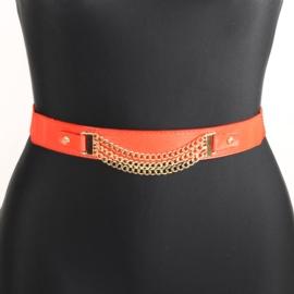 Pasek damski guma z łańcuszkami - BL152