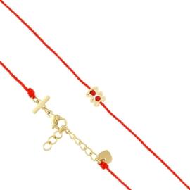 Bransoletka na sznurku - teddy - Blueberry BP7623