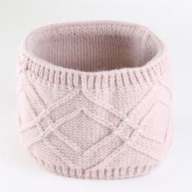 Opaska zimowa z dżetami - różowa - OPSZ14